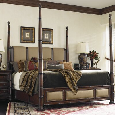 Landara Upholstered Four Poster Bed Size: California King