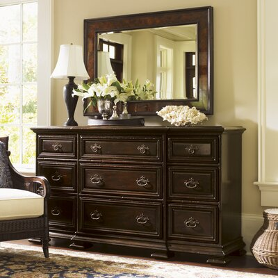 Island Traditions 9 Drawer Dresser with Mirror