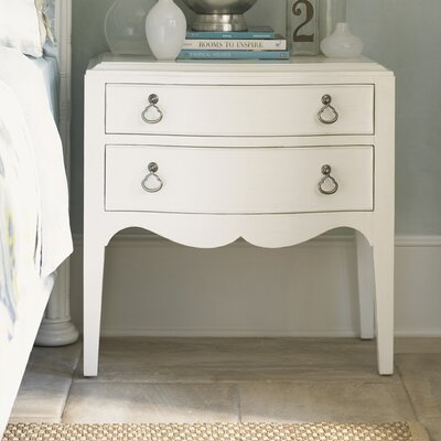 Ivory Key 2 Drawer Nightstand