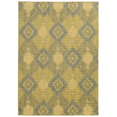 Tommy Bahama Cabana Green / Blue Geometric Indoor/Outdoor Area Rug Rug Size: 110 x 33