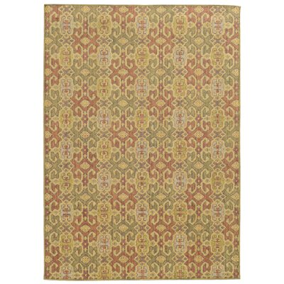 Tommy Bahama Cabana Pink / Green Geometric Indoor/Outdoor Area Rug Rug Size: 110 x 33