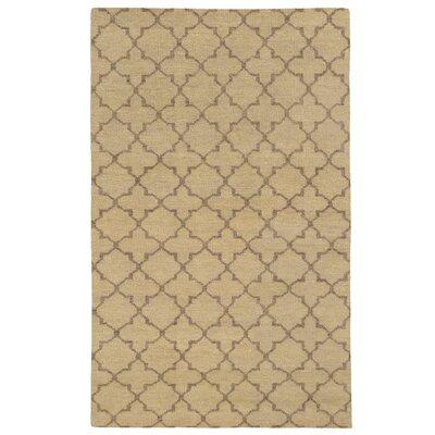 Tommy Bahama Maddox Beige / Stone Geometric Rug Rug Size: 36 x 56