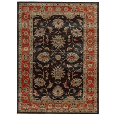 Tommy Bahama Vintage Navy / Red Oriental Rug Rug Size: 310 x 55