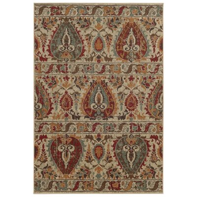 Tommy Bahama Voyage Beige / Multi Abstract Rug Rug Size: 67 x 96
