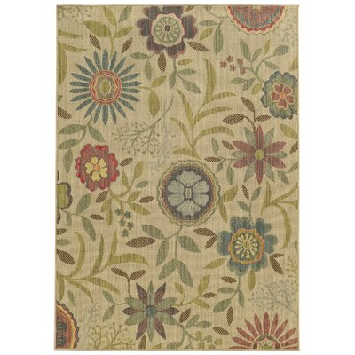 Tommy Bahama Cabana Beige / Multi Floral Indoor/Outdoor Area Rug Rug Size: 310 x 55