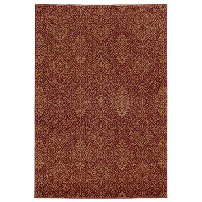 Tommy Bahama Voyage Red / Beige Floral Rug Rug Size: 310 x 55