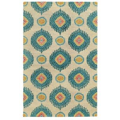 Tommy Bahama Jamison Beige / Blue Floral Rug Rug Size: 5 x 8