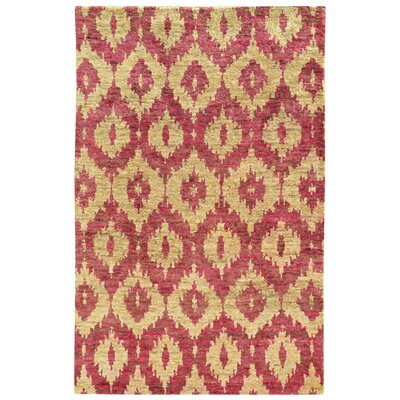 Tommy Bahama Ansley Beige / Pink Abstract Rug Rug Size: 5 x 8