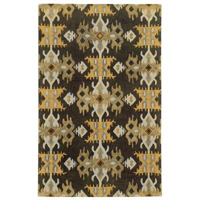 Tommy Bahama Jamison Black / Gold Geometric Rug Rug Size: 8 x 10