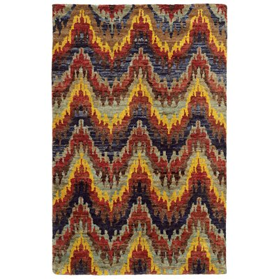 Tommy Bahama Ansley Multi / Multi Abstract Rug Rug Size: 5 x 8