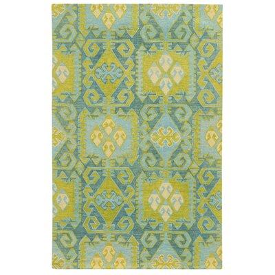 Tommy Bahama Jamison Blue / Green Geometric Rug Rug Size: 8 x 10