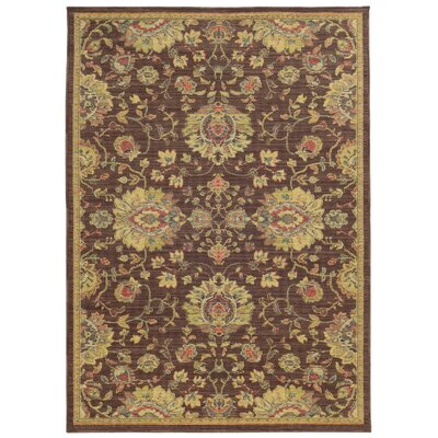 Tommy Bahama Cabana Brown / Beige Oriental Indoor/Outdoor Area Rug Rug Size: 67 x 96