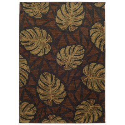 Tommy Bahama Voyage Charcoal / Brown Abstract Rug Rug Size: 110 x 33