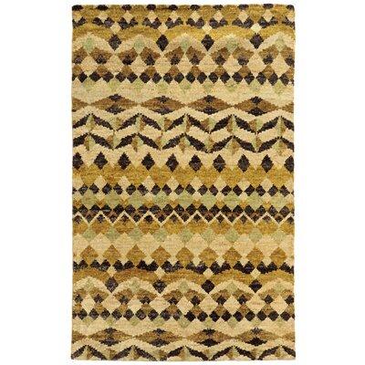 Tommy Bahama Ansley Beige / Gold Geometric Rug Rug Size: 5 x 8