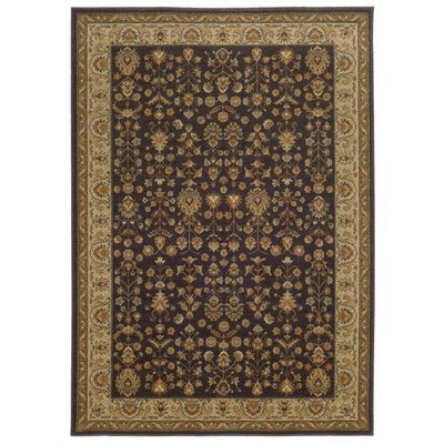 Tommy Bahama Voyage Charcoal / Gold Oriental Rug Rug Size: 67 x 96