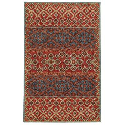 Tommy Bahama Jamison Red / Blue Geometric Rug Rug Size: 5 x 8