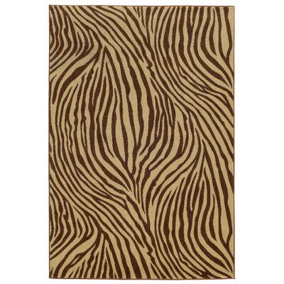 Tommy Bahama Voyage Beige / Brown Abstract Rug Rug Size: 910 x 1210