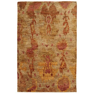 Tommy Bahama Ansley Beige / Orange Abstract Rug Rug Size: 36 x 56