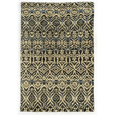 Tommy Bahama Ansley Black / Beige Geometric Rug Rug Size: 5 x 8