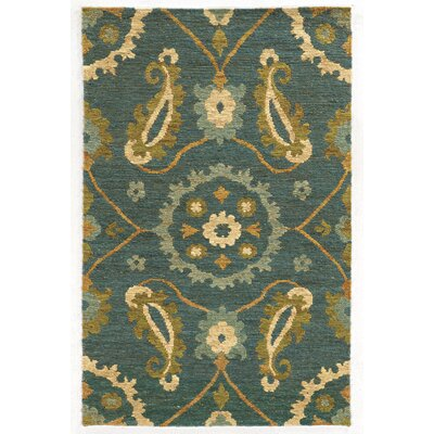 Tommy Bahama Valencia Blue / Green Floral Rug Rug Size: 36 x 56