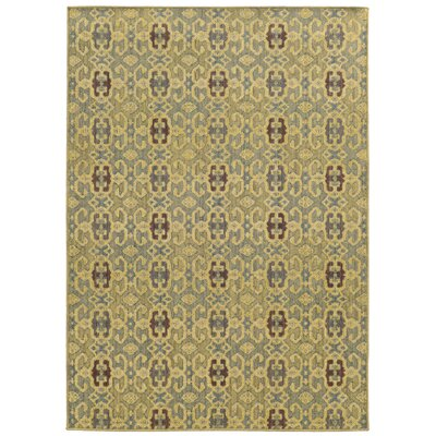 Tommy Bahama Cabana Blue / Beige Geometric Indoor/Outdoor Area Rug Rug Size: 110 x 33
