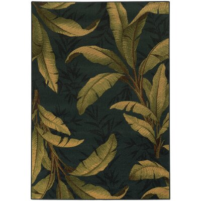 Villa Blue/Green Area Rug Rug Size: Runner 110 x 76