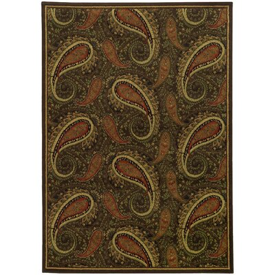 Villa Brown/Green Area Rug Rug Size: 67 x 96