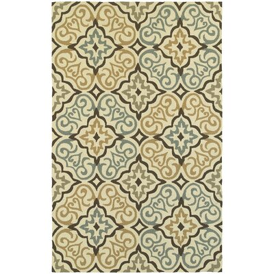 Atrium Floral Lattice Indoor/Outdoor Area Rug Rug Size: 36 x 56