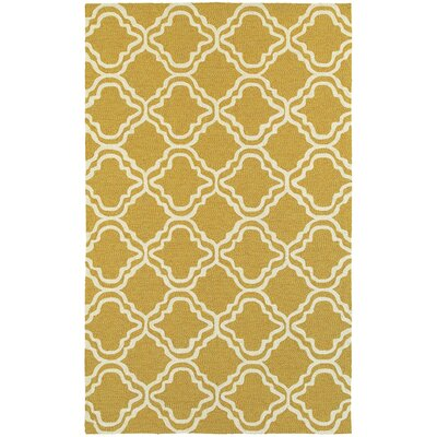 Atrium Trellis Panel Gold & Ivory Indoor/Outdoor Area Rug Rug Size: 36 x 56