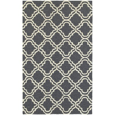 Atrium Trellis Panel Grey/Ivory Indoor/Outdoor Area Rug Rug Size: 36 x 56