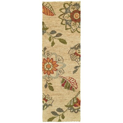 Tommy Bahama Valencia Beige / Multi Floral Rug Rug Size: Runner 26 x 8