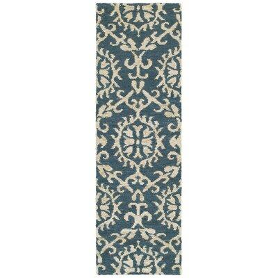 Tommy Bahama Valencia Navy / Beige Floral Rug Rug Size: Runner 26 x 8