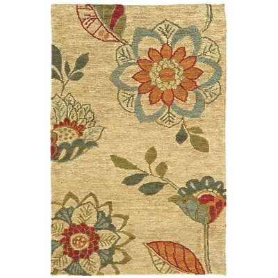 Tommy Bahama Valencia Beige / Multi Floral Rug Rug Size: 5 x 8