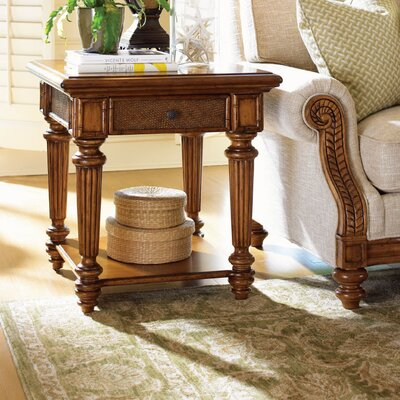Island Estate Boca End Table with Storage