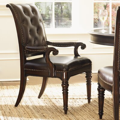 Island Traditions Hastings Genuine Leather Upholstered Dining Chair