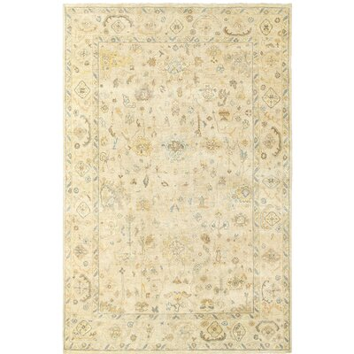 Palace Hand-Knotted Beige Area Rug Rug Size: 6 x 9