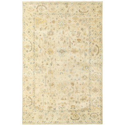 Palace Hand-Knotted Beige Area Rug Rug Size: 10 x 14