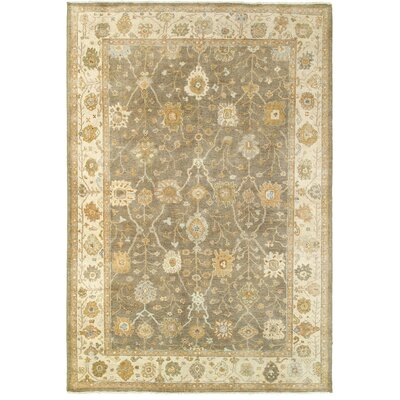 Palace Hand-Knotted Brown/Beige Area Rug Rug Size: 6 x 9
