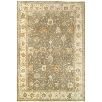 Palace Hand-Knotted Brown/Beige Area Rug Rug Size: 9 x 12