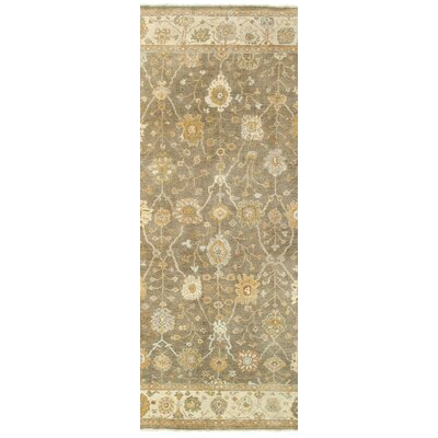 Palace Hand-Knotted Brown/Beige Area Rug Rug Size: Runner 26 x 10