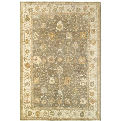 Palace Hand-Knotted Brown/Beige Area Rug Rug Size: 10 x 14