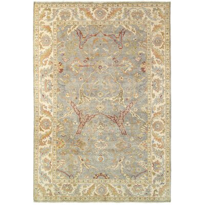 Palace Hand-Knotted Gray/Beige Area Rug Rug Size: 10 x 14