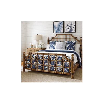 Twin Palms Panel Bed Size: California King