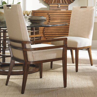 Island Fusion Coles Bay Arm Chair Upholstery: Gold