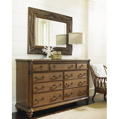 Bali Hai 9 Drawer Dresser with Mirror