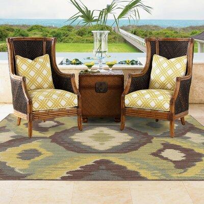 Tommy Bahama Cabana Brown / Blue Abstract Indoor/Outdoor Area Rug Rug Size: 310 x 55