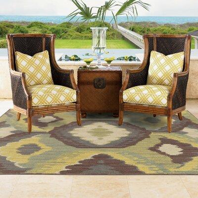 Tommy Bahama Cabana Brown / Blue Abstract Indoor/Outdoor Area Rug Rug Size: 110 x 33