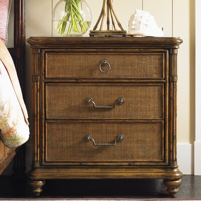 Bali Hai 3 Drawer Nightstand