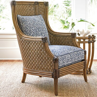 Twin Palms Coral Reef Wing back Chair