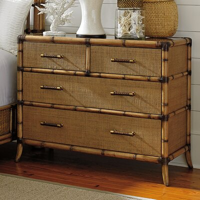 Twin Palms 4 Drawer Chest Color: Bermuda Sand